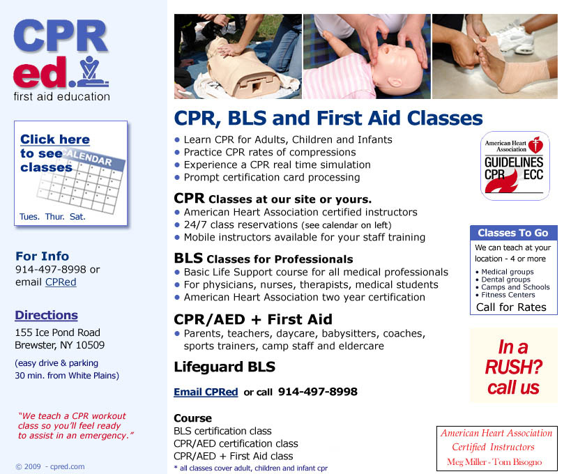CPR and BLS Classes